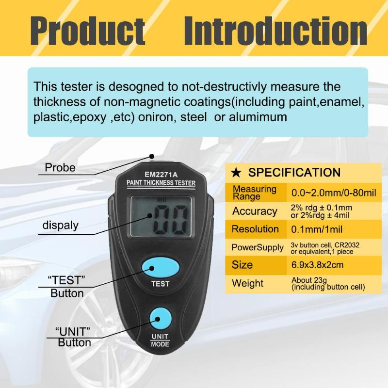 Car Paint Tester with Calibration Sheets