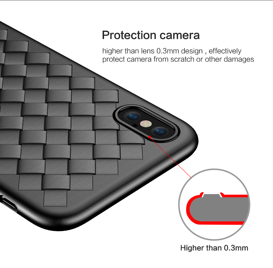 iPhone Lether Mesh Cover